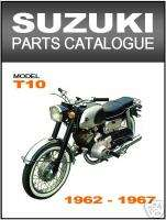 SUZUKI Parts Manual T10 Colleda 1962 to 1967 Catalog