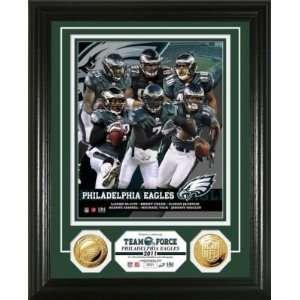 Philadelphia Eagles Team Force 24KT Gold Coin Photo Mint