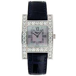 Chopard H Womens 18k White Gold Diamond Watch