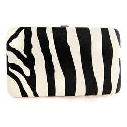 H2W Brand Zebra Print Womens Hardcover Wallet