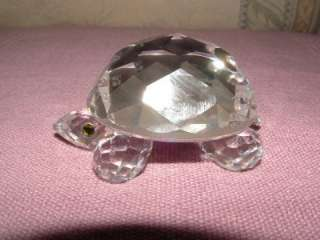 Retired Swarovski Large Cut Glass Crystal Tortoise