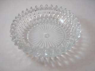 Clear Pressed Glass Ashtray Candy Dish Snack Nut Bowl Crystal?  