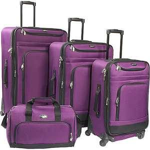 Travel Gear Spectrum 4 Piece Exp. Spinner Set Luggage
