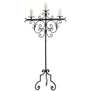 Verona 59 High Wrought Iron Floor Candelabra