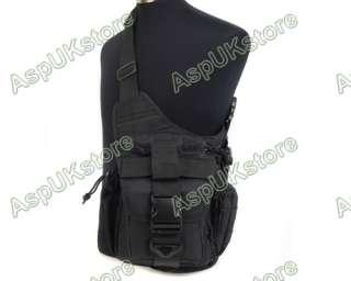 600D Tactical Shoulder Backpack Bag Pouch V/B Black AG