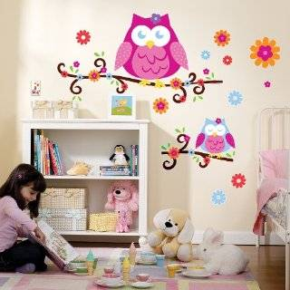 Grow Wise Little Owl Family Vinyl Wall Art Lettering