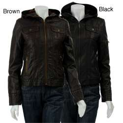 Miss Sixty Womens Zip front Faux Leather Jacket