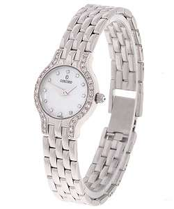 Concord Les Palais Womens Mini 14k Gold Diamond Watch  Overstock