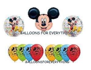 11 DISNEY MICKEY MOUSE HAPPY BIRTHDAY PARTY BALLOON SET