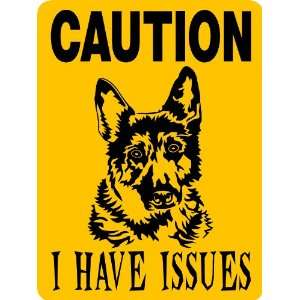 GERMAN SHEPHERD DOG SIGN ALUMINUM