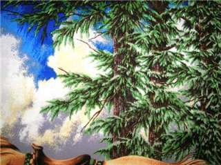 New Boy Girl Western Country Fabric Wall Panel Horse River Trees