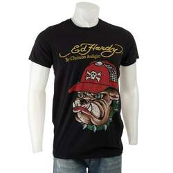 Ed Hardy Mens Black Bulldog T shirt |