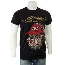 Ed Hardy Mens Black Bulldog T shirt