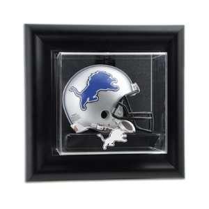 Detroit Lions Wall Mounted Mini Helmet Display Case