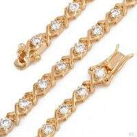 TENNIS BRACELET 14K/925 Yellow Gold plated / 925 Sterling Silver