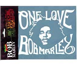 Bob Marley ONE LOVE Rub On Car Window Sticker Decal
