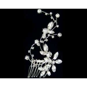 Rhinestone Flower Hair Comb 2327 Beauty