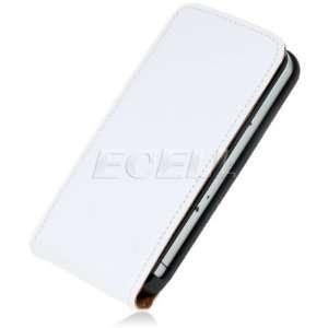 WHITE LEATHER FLIP CASE COVER FOR APPLE iPHONE 4 4G Electronics