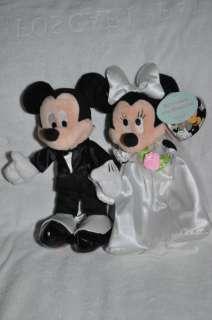 Disney Mickey Minnie Musical Wedding Plush Dolls   New