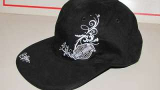 NWOT~HARLEY DAVIDSON~FLAT BILL~SHIMMER~REVERSIBLE~Bar Shield~Skull~HAT