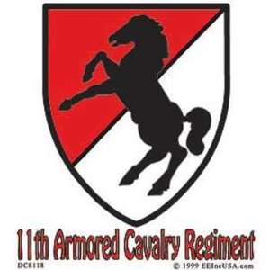U.S. Army 11th Armored Cavalry Regiment Sticker Automotive