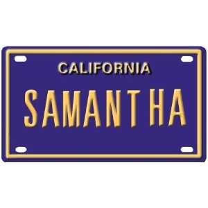 Samantha Mini Personalized California License Plate