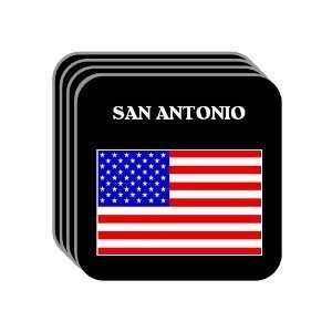 US Flag   San Antonio, Texas (TX) Set of 4 Mini Mousepad