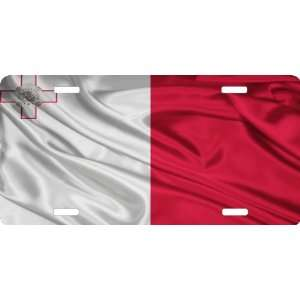 Rikki KnightTM Malta Flag Cool Novelty License Plate   Unisex   Ideal