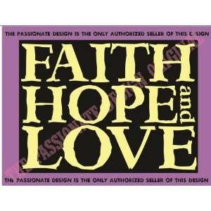 Faith Hope and Love Vinyl Decal