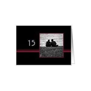 Couple in Love 15th Wedding Anniversary Card Card Health