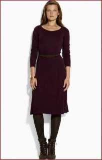 NWT Ralph Lauren Belted Silk Blend Jersey Long Sleeve Career Dress XL