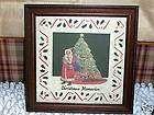 DESIGNS W SCISSORS FRAMED PIC CHRISTMAS MEMORIES 1987