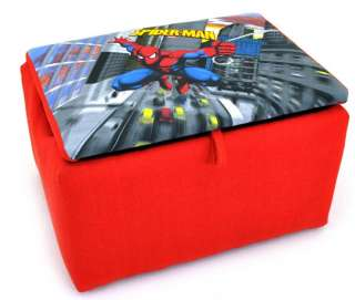 Kids Storage Marvel Comics SPIDERMAN TOY BOX Seat