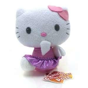 Hello Kitty with Double Heart Hair Bow ~6.5 Mini Plush Doll (Japanese
