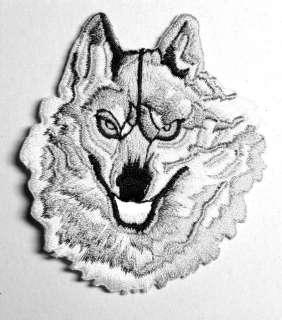 GREY WOLF TWILIGHT SAGA IRON ON PATCH EMBROIDERED I062