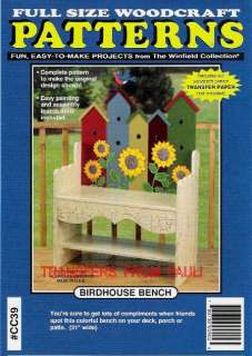 Birdhouse Bench Woodcraft Woodworking Pattern