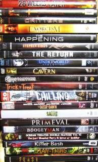 Huge 20 DVD Horror LOT Stephen King, Dementia 13, Happening, 28 Weeks