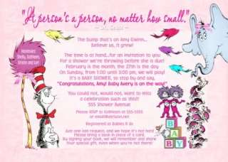 Dr Seuss 1st 2nd 3rd BIRTHDAY Party Invitations Photo