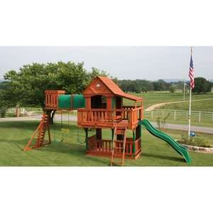 Backyard Discovery Woodridge Cedar Swing Set Outdoor Play