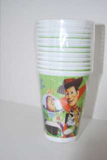 12 plastic dixie cups Toy Story 3 kids Birthday Party