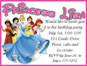 Personalized Disney Princess birthday invitation