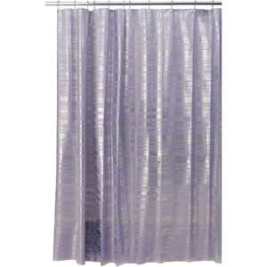 InterDesign EVA Shower Curtain, Purple/Silver Blaze Bath