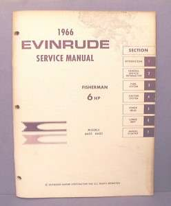 1966 Evinrude FISHERMAN 6 HP Outboard Service Manual