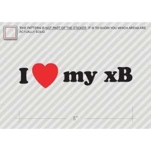 I Love my xB   Scion   Sticker   Decal   Die Cut