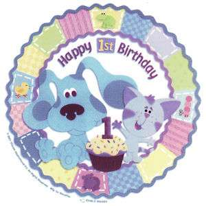 Blues Clues 1st Birthday Edible Cake Topper Decor Image