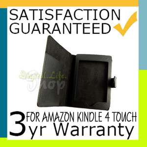 Leather Carry Cover Folio Case for eReader Kindle Touch 3G & WIFI