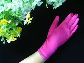 AU*Short Satin 9 Wrist Length Prom/Wedding Gloves#GV59