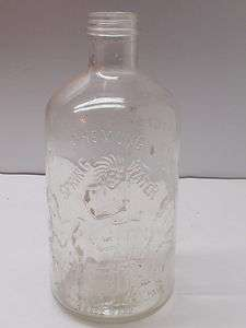 Antique Chemung Spring Water Old Glass Half Gallon Bottle Indian
