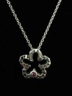 NIB ROBERTO COIN 18k White Gold Diamond Clover Necklace