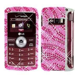 Premium   LG VX9200/enV3 Full Diamond Hot Pink/Pink Zebra